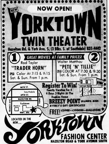 June 20th, 1973 grand opening ad
