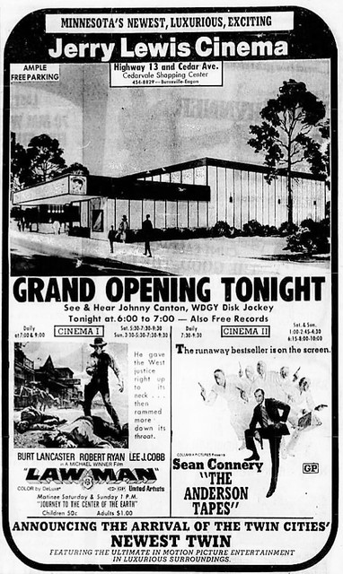 Jerry lewis cinemas in burnsville mn cinema treasures for Burnsville theater