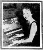 Lucille Regner at the KENOSHA Theatre Wurlitzer, 1960.