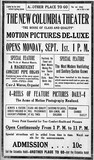 August 31st, 1913 grand opening ad