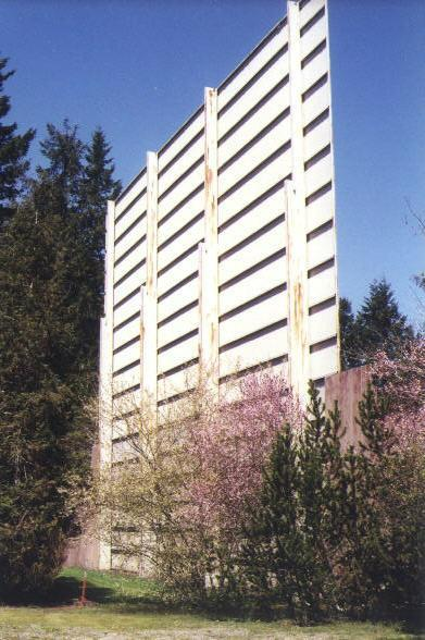 Back of screen tower