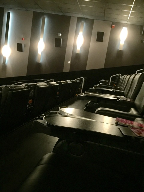 Reclining seats in VIP auditoriums