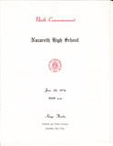 Nazareth HS 1974 Commencement Program.