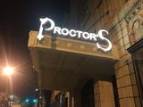 New Proctors Marquee lit at night