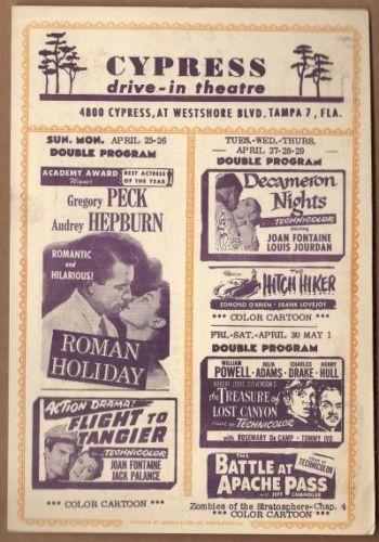 Tampa Cypress Drive-In Handbill