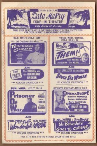 Dale Mabry Drive-In Theatre Handbill