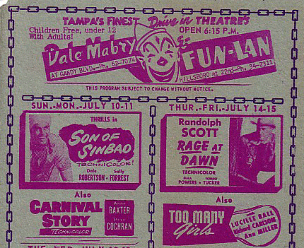 Handbill for Dale Mabry Drive-In