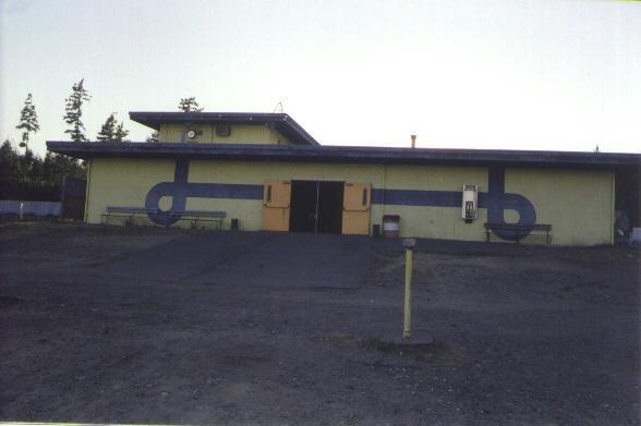 Front of snack building