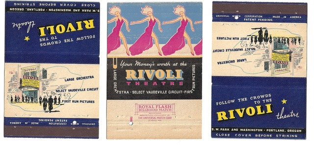 Rivoli Theatre Matchbook