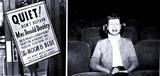 "<p>That's Mrs. Donald Dooley who gets a private screening of ""The Moon is Blue"" after she complained about missing some lines as people in the audience were laughing so hard. J.P. Harrison allowed a special one-person screening on September 24, 1953 and got national publicity, to boot.</p>"