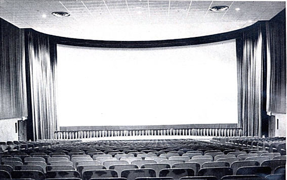 UA Trumbull Cinema (A D-150 house) auditorium