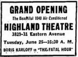 June 25th, 1940 grand opening ad