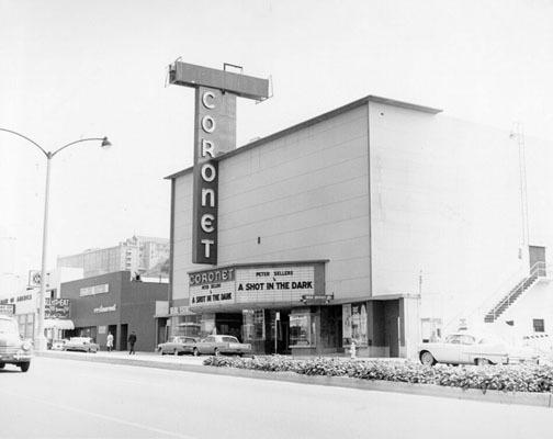 Coronet Theatre exterior (1964)