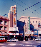 Esquire Theatre exterior with the nearby Telenews Theatre