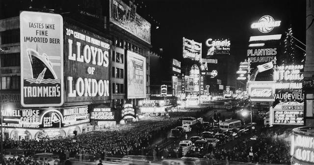 New Years Eve 1936 photo courtesy of Al Ponte's Time Machine - New York Facebook page.
