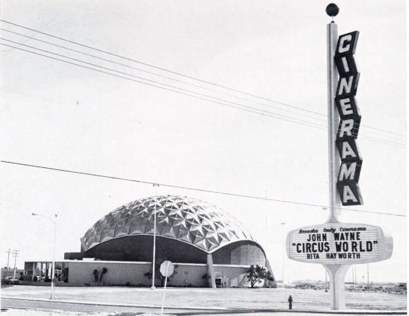 Las Vegas Cinerama Theatre exterior (1965)
