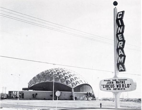 Las Vegas Cinerama Theatre exterior (1965)