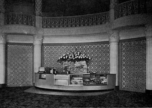 Fox Wilshire Theatre 1960 remodel Snack Bar area