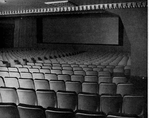 Fox Wilshire Theatre auditorium 1960 remodel