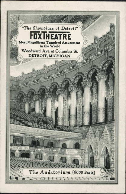 Detroit Fox Theatre program