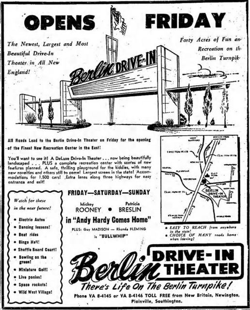 berlin drive in in berlin ct cinema treasures. Black Bedroom Furniture Sets. Home Design Ideas