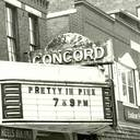 Concord Theatre Marquee in 1986