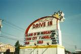1996 marquee photo with ominous sign below.