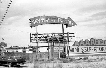 Skyway Drive-In sign