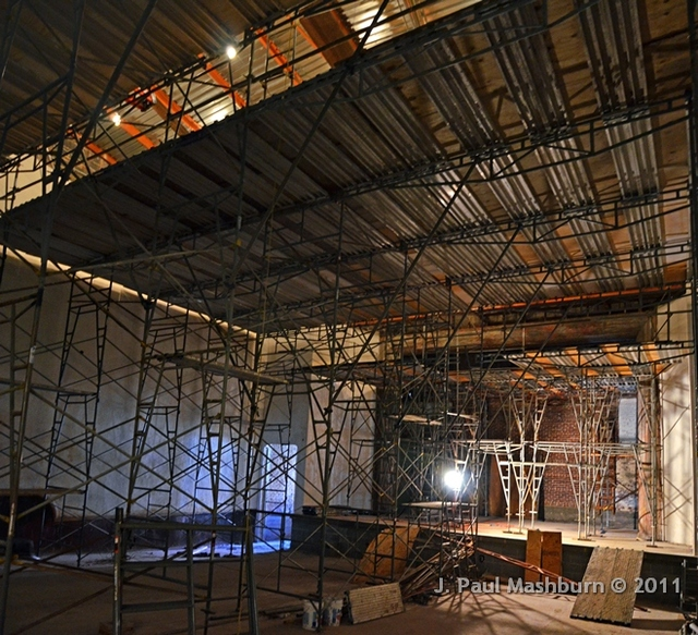 SCAFFOLDING INSIDE THE PRINCESS