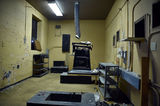 Upstairs theater projection booth