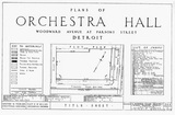 ARCHITECTURAL DRAWING FOR ORCHESTRA HALL