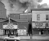 This was a fire behind the Ohio Theatre in Dayton Late 1950's