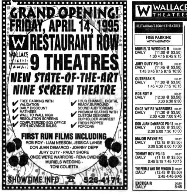 Restaurant Row 9 Theatre