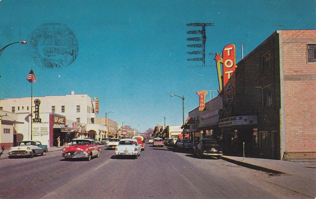 Mid 50's postcard courtesy of Barry Digman.