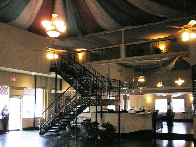 View of the former balcony.