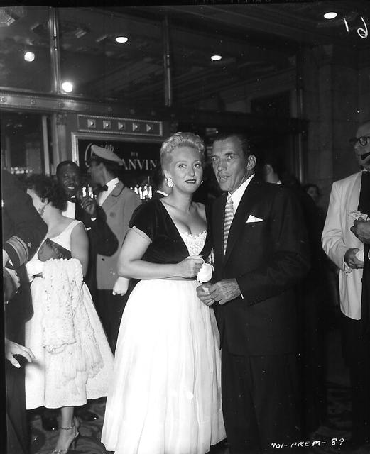 Celeste Holm & Ed Sullivan attend THE EGYPTIAN premiere Roxy 1954