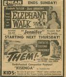 Pittsburg: Enean Theatre - Movie Ad. 1954