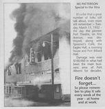 1952 Port Theatre Fire article