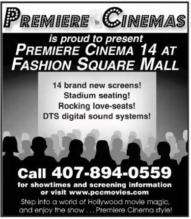 Premiere Cinema 14 at Fashion Square Mall in Orlando, FL