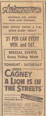 Pittsburg: Automotive Theatre Ad 1954
