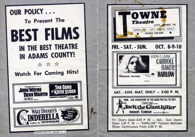 Coming Attractions Flyer ca. 1965