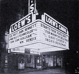 <p>A 1945 night exterior of the Loew's Canal Theatre on Canal Stree in New York.</p>