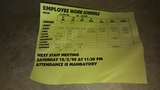Schedule of employees