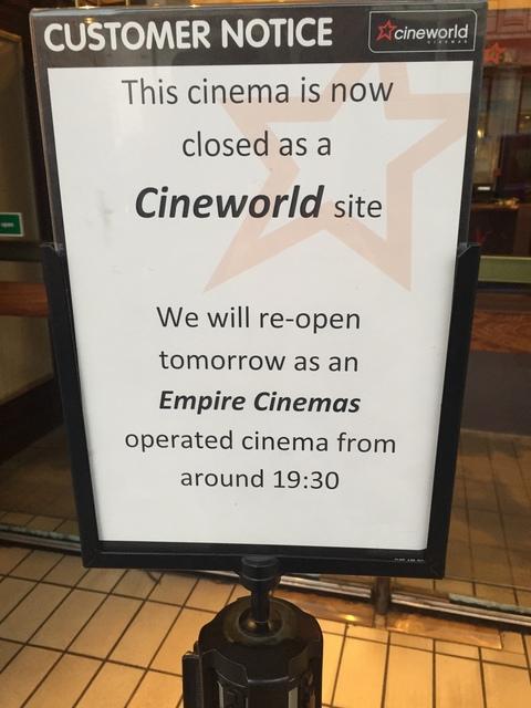 Goodbye Cineworld