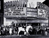 "<p>That's Roy Alward and his horse, Scout, making a personal appearance at the Paramount Theatre in Moncton circa 1952  to promote ""The Son of Paleface"" coming soon to New Brunswick.</p>"