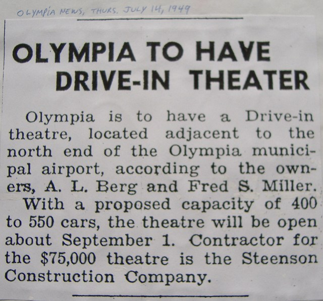 Announcement of theater to be built