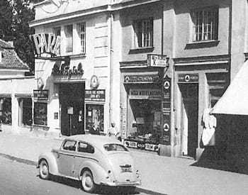 Outside view in the 1950s