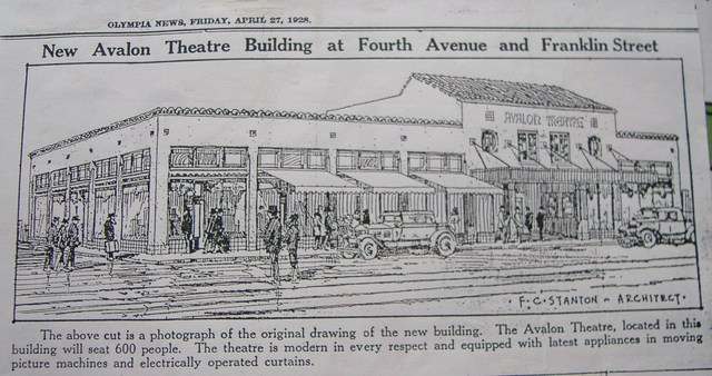 Drawing of theater