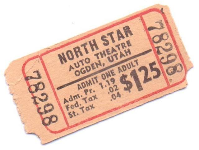 Ticket stub courtesy of Rod Nelson.