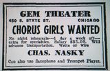 1943 GEM Theatre print ad courtesy of David Floodstrand.